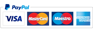 Credit and Debit cards accepted via Paypal
